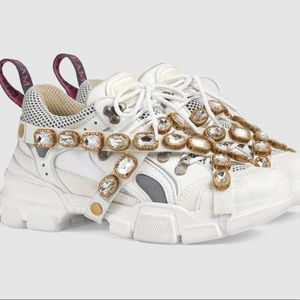 Gucci Flashtrek Sneaker with Removable Crystals 38